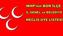MHP Bor Belediye Meclis ve İl Genel...